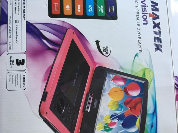 "maxtek vision 10"" portable dvd player"