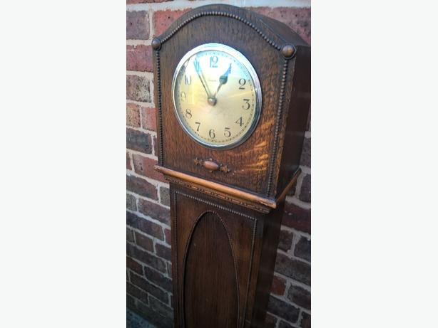 GRANDMOTHER CLOCK IDEAL FOR SHABBY CHIC FULLY WORKING