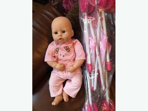 brand new pushchair and zapf doll