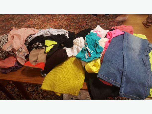 ladys clothes size 14 16 18 and boys and girls clothes.