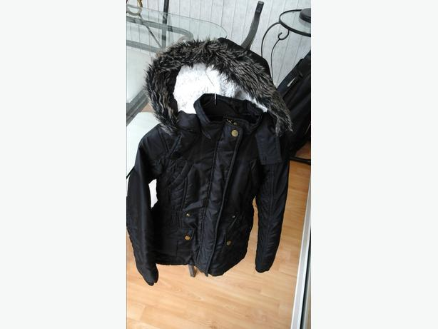 Girls age 9-10 years black coat