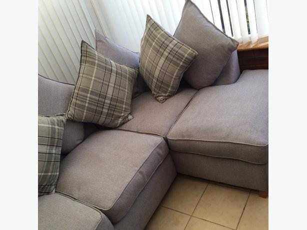 DFS grey corner sofa