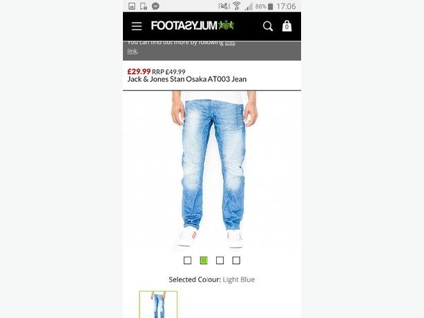 Jack and Jones jeans w34 l34