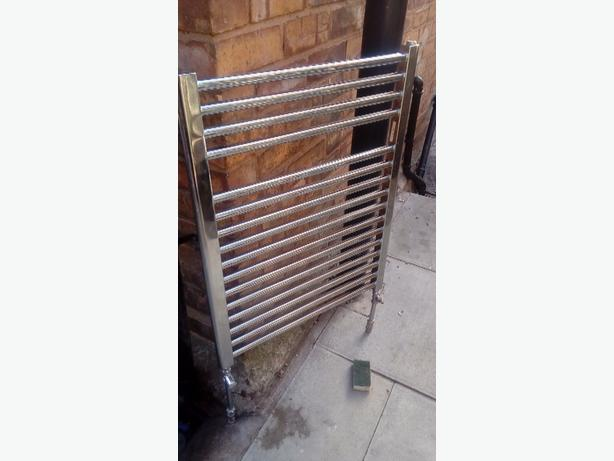 chrome bathroom radiator