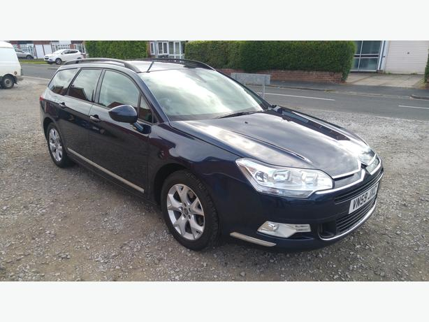Citroen C5 VTR+NAV Estate 59 plate 2.0HDi sat nav bluetooth and long MOT