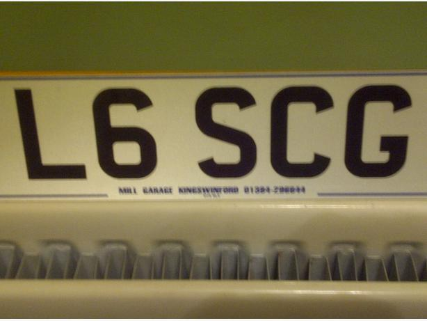 Cherished Number Plate L 6 SCG - Sensible Offers Considered