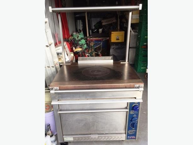Commercial Stott Benham Gas Mk 5 Solid Bullseye Top Oven with Top Rack