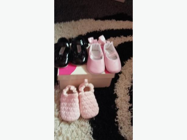 small bundle of baby shoes