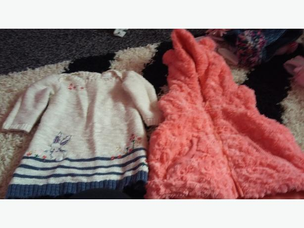 3/6 body warmer n nxt jumper dress