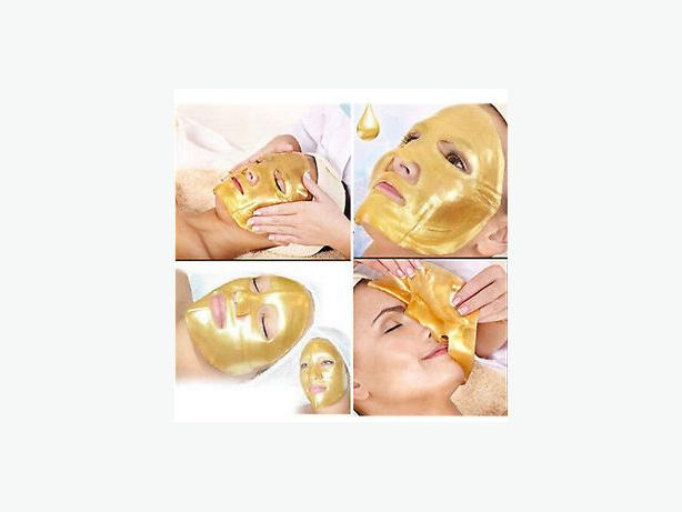 Gold bio Collagen Crystal Face Masks Anti Ageing Skin Care Gold White