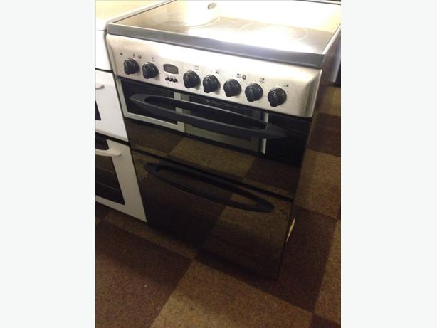 INDESIT DOUBLE OVEN MIRROR DOOR ELECTRIC COOKER