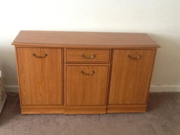 Cherry wood veneer sideboard