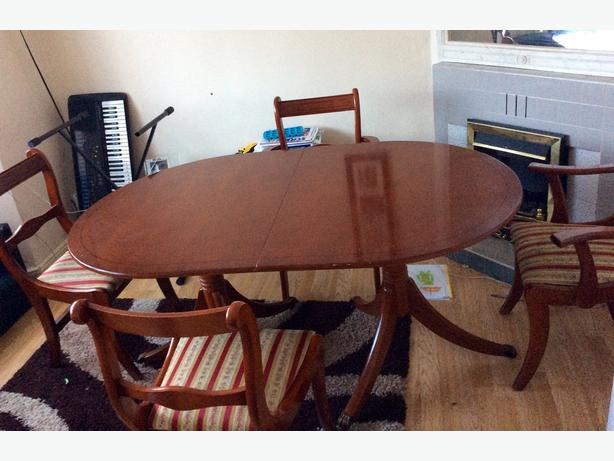 Large extendable dining table