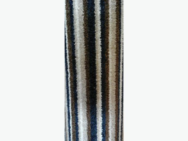 blue and brown stripe carpet