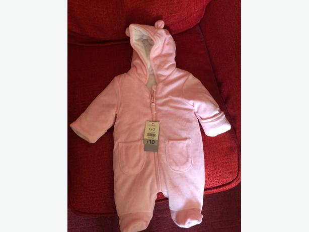 Girls 0-3 months Pink Snow suit