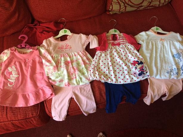 Girls 0-3 months Disney outfits