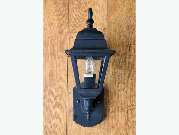 Outdoor Matt Black Coach Wall Lantern For Sale