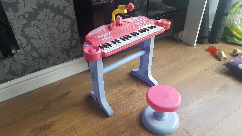 Peppa Pig Keyboard Mic Stand And Stool Penn Dudley