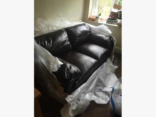 brand new dfs leather 2 seater