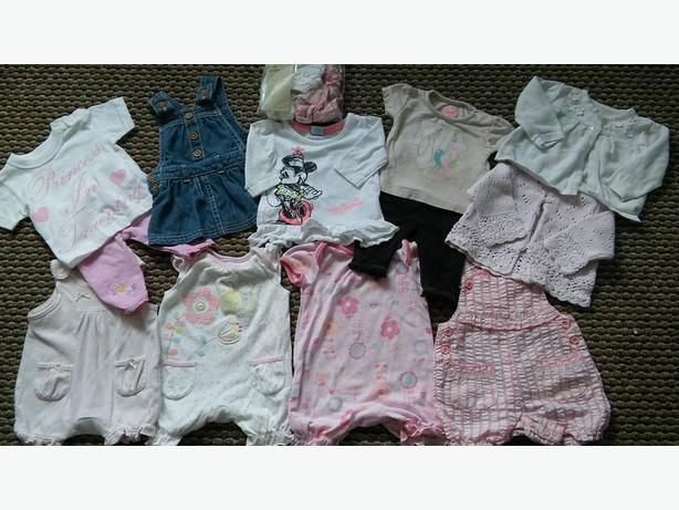 big bundle of girls newborn clothing