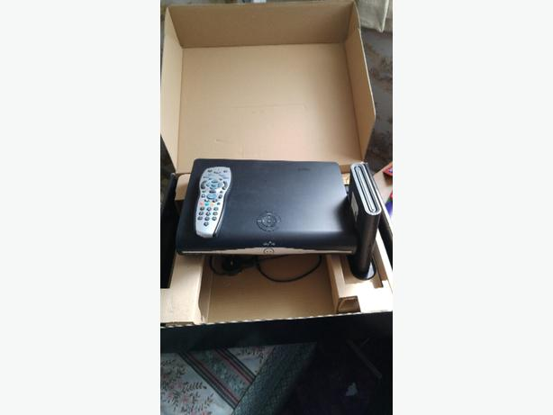 Sky + HD box with router, changer and leads