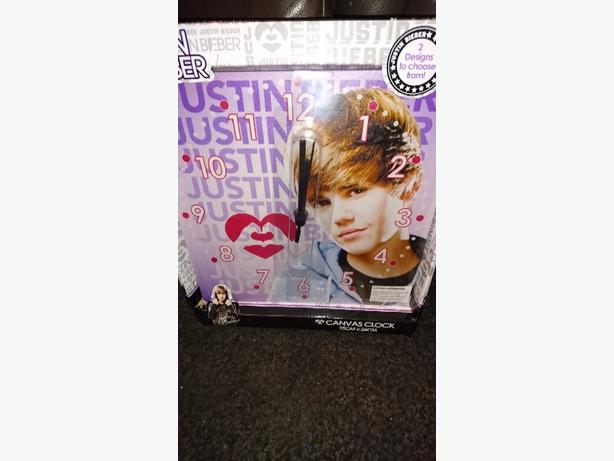 Justin Bieber canvas clock