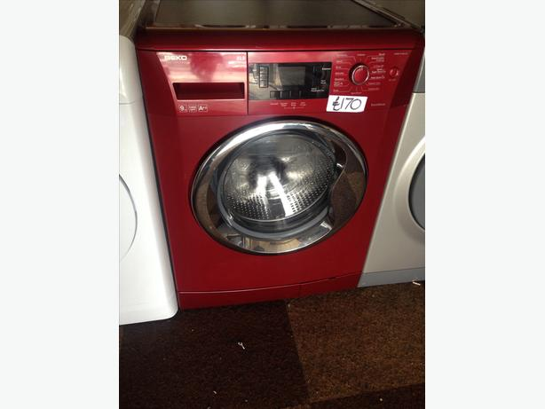 BEKO WASHING MACHINE 9KG RED