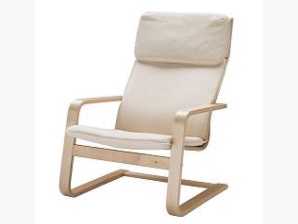 IKEA cream armchair