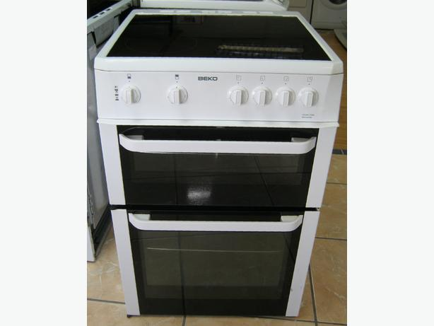 Beko 60cm Electric Cooker, Fan Oven, Ceramic Hob, 6 Month Warranty
