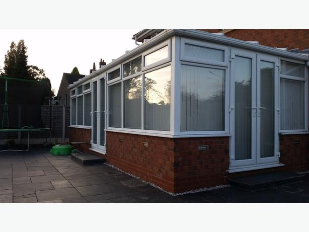 Used Large White UPVC Conservatory