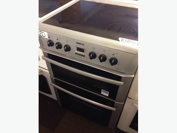 BEKO 60CM FAN ASSISTED DOUBLE OVEN ELECTRIC COOKER0