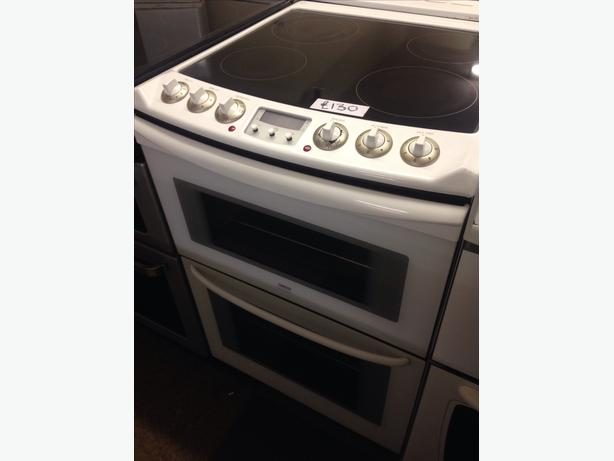 ZANUSSI 60CM FAN ASSISTED DOUBLE OVEN ELECTRIC COOKER1
