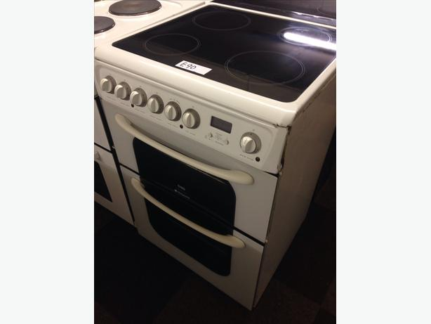 HOTPOINT CREDA 60CM DOUBLE OVEN ELECTRIC COOKER0