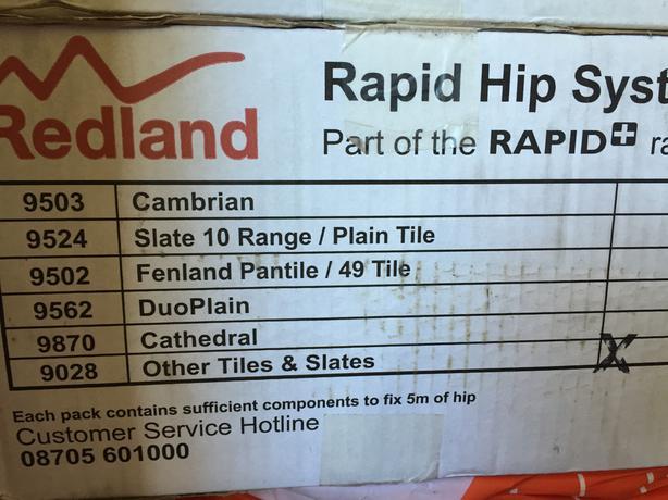Redland rapid hip system