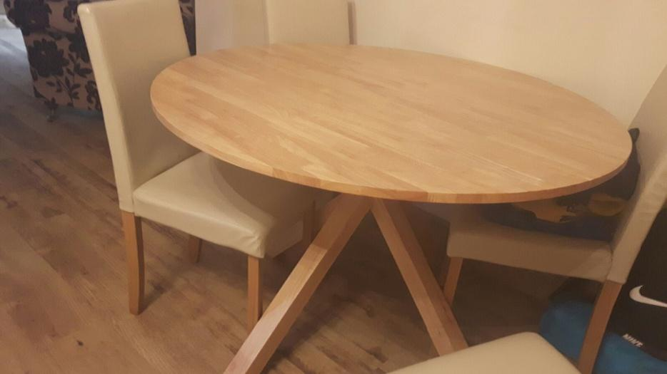 round dining table and 4 chairs DUDLEY Wolverhampton : 105964726934 from www.usedwolverhampton.co.uk size 934 x 525 jpeg 33kB