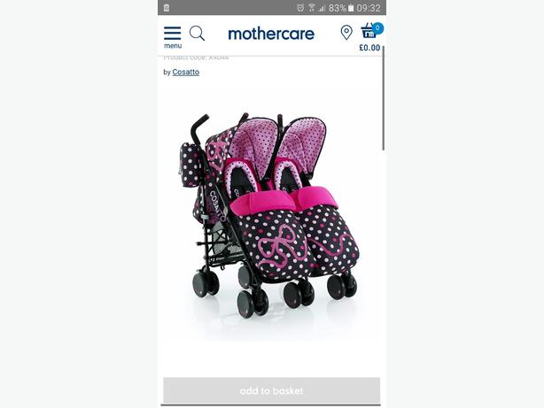 cosatto supa bow how twin stroller
