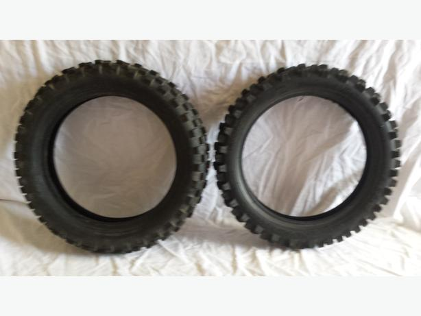 2 x pitbike tyres
