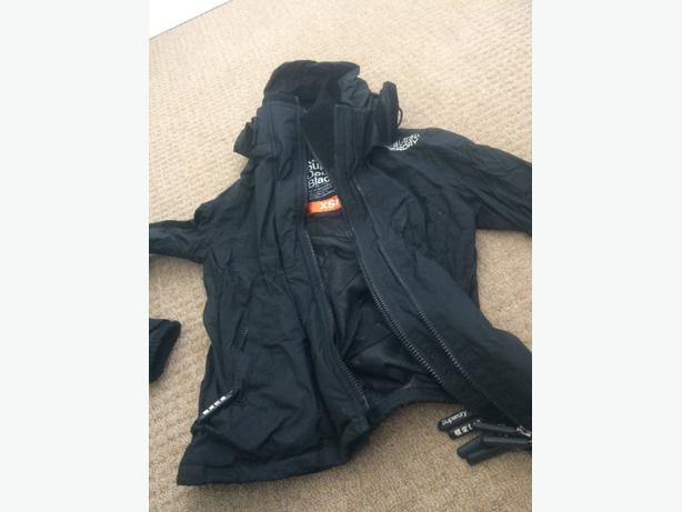 black superdry coat.
