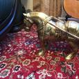 Big Brass Horse and Cart