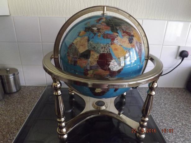 lapis gemstone  globe 330 cm