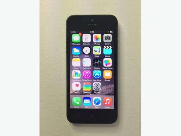 Black iPhone 5 16GB O2 Giffgaff Tesco Good Condition Can Deliver