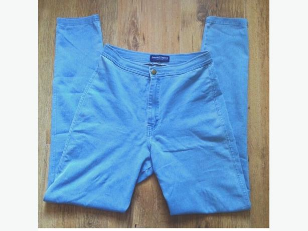 american apparal blue high waisted jeans