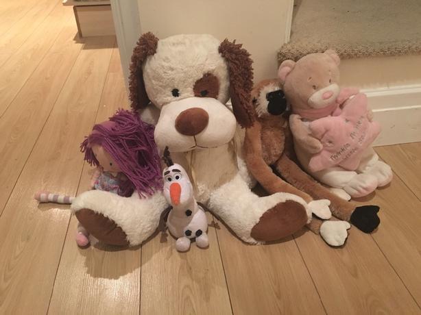 bhs big teddy olaf talking toy and other teddys