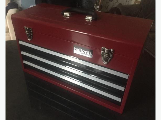 halfords advanced 3 drawer tool chest, new