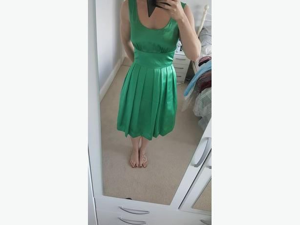 Emerald green occasion dress