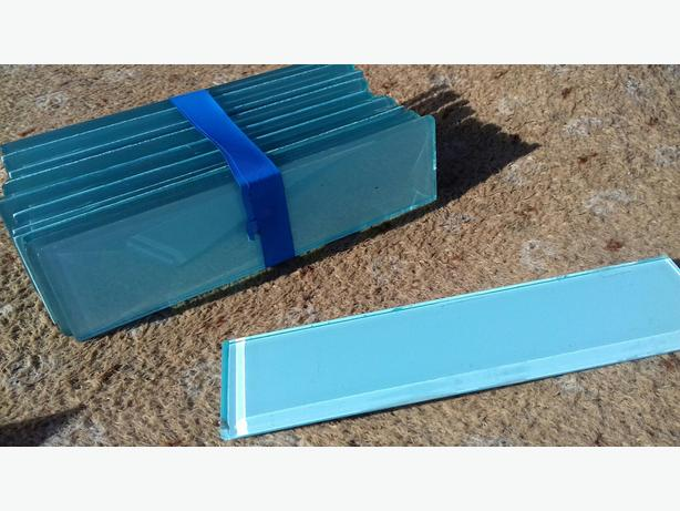 pale blue edging tiles
