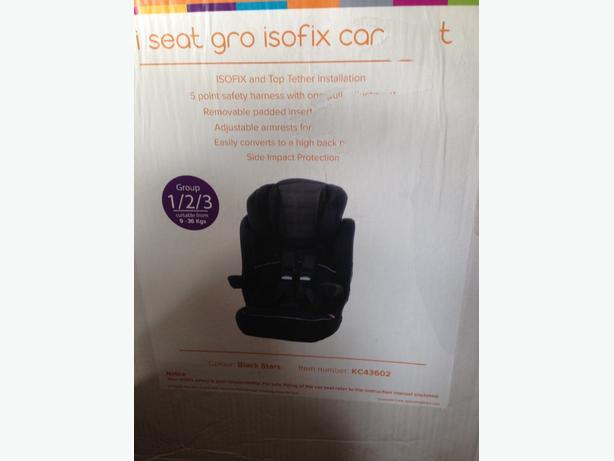 kiddie care isotix car seat 1/2/3