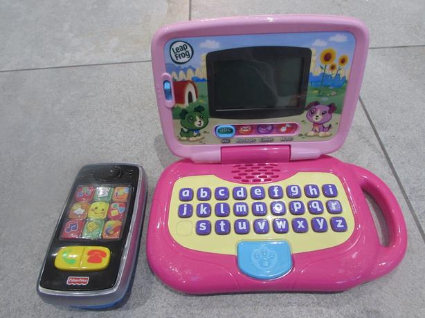 Leapfrog toddler laptop computer and fisherprice smart phone