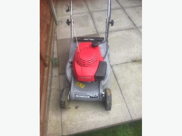 lawnmower honda hrb 423 rear