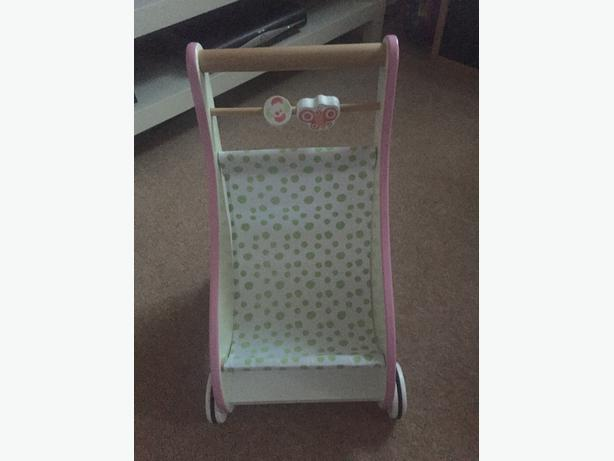 ELC wooden walker pusher chair